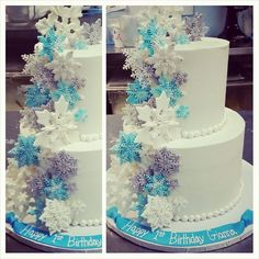 Frozen Snowflake Cake – Blue Sheep Bake Shop