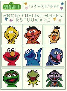 Sesame Street Sampler Pattern by KeenahsCrossStitch