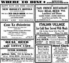 Los Angeles cafes celebrating the return of legal beer on April 7, 1933 included Taix, Italian Village, Bernstein's Fish Grotto, the Lotus Cafe, Casa La Colondrina on Olvera, the Clark and Rosslyn hotel dining rooms & the Boos Brothers Cafeteria on S. Hill St. Tutor Scherer was serving it up at the old Jeffries bar at 326 S. Spring, now owned by gambler Zeke Caress and a front for his bookmaking operation.