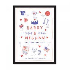 A3 Royal Wedding Souvenir Spotting Riso Print | Ohh Deer