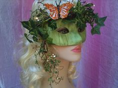 Ivy- Plant Nymph Mask Masquerade Ball, Masquerade Dresses, Harlequin Mask, Halloween Fun, Halloween Face Makeup, Lady Jane Grey, Ivy Plants, Beautiful Mask, Cryptozoology