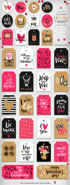 Valentine's day gift tags & overlays by kite-kit on Creative Market