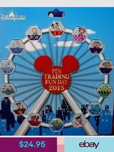 Walt Disney World Park Trading Pin Ferris Wheel Set - 14 Total Pins - Brand Disney Pins Sets, Disney Trading Pins, Disney World Parks, Disney Pixar, Disney Vacations, Disney Trips, Disney Travel, Disney Lanyard, Disneyland Pins