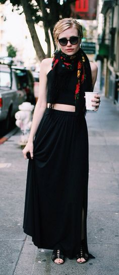 The beautiful @Jessi de Bergerac wearing the Amatoria Maxi High-Waist Skirt with Slit. Available on Etsy, $98.00