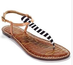 Sam Edelman Sandals - stripes stripes everywhere!!