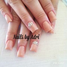 Elegant wedding nails with bling!