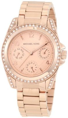 Michael Kors Women's Blair MK5613 Rose-Gold Rose-Gold Analog Quartz Watch with Gold Dial: Michael Kors: Amazon.co.uk: Watches