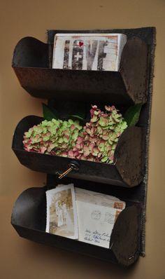 Vintage Grain Scoop Wall Shelf-Rustic by TuesdayBlueberries