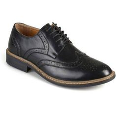 Territory Mens Lace-up Faux Leather Oxford Derby Dress Shoes, Black