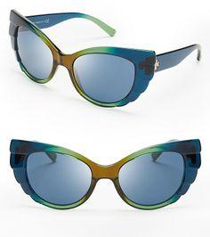 Tory Burch Beetle Cat Eye Sunglasses on shopstyle.com