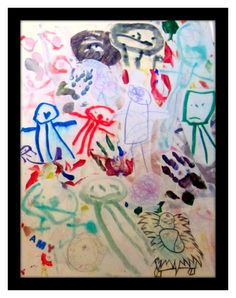 What do you do with all of your kids' art? Make a Collage with all of your Kid Art for a Keepsake! I've saved stuff for 14 years and can't wait to display it--somewhere. Lessons For Kids, Projects For Kids, Art Lessons, Art Projects, Crafts For Kids, Kid Art, Art For Kids, Childrens Workshop, Crafty Kids