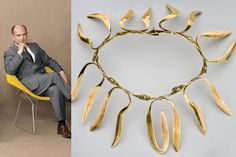 Harry Bertoia (left), and Necklace (right), collection of Cranbrook Art Museum