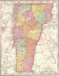1900 antique vermont map vintage 1900s map of vermont gallery wall art 4107