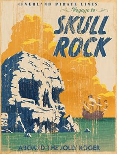 Giclee Printed Skull Rock Attraction Poster by faisonstout on Etsy