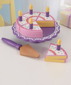 Take a look at this KidKraft Birthday Cake Set by Perfect Presents: Apparel, Toys & Shoes on #zulily today!