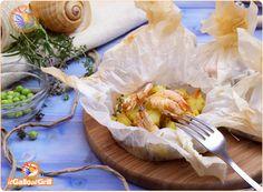 Cartoccio di patate e gamberi