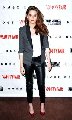 "Kristen Stewart Looks Amazing In H ""Leather"" Pants (And At Under $200 So Could You!): Dressed: glamour.com"