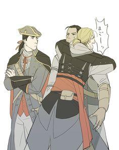 yokaorii: I love them~ - We work in the dark Assassin's Creed Assassins Creed Memes, Assassins Creed Black Flag, Assassins Creed Odyssey, Assassin's Creed I, Cry Of Fear, Edwards Kenway, Templer, Fantasy Warrior, Final Fantasy