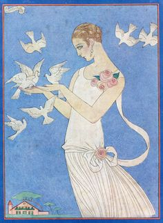 George Barbier (1882-1932) - French Art Deco Fashion Illustrator - May 1926 issue of Femina Magazine