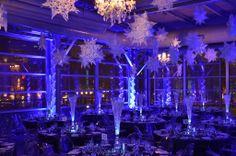 Plafond en flocon de neige au centre des sciences Flakes, Ceiling, Snow