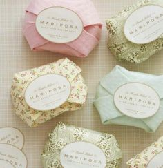 Homemade soap favors <3