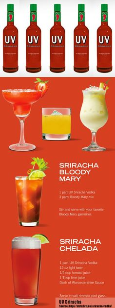 #KatieSheaDesign ♡❤ ❥▶ Lookout!  @UV Vodka  Sriracha Vodka Is About to Rock Your Bloody Mary's World via @Brit Morin Morin Morin  Start your #MothersDay Brunch with one of these sassy cocktails!! #fcpinpartners