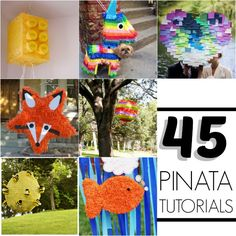 Piñata Ideas and Tutorials - Pinatas make any party more fun! You can seriously make any shaped pinata, y'all! Festa Party, Diy Party, Party Ideas, Diy Y Manualidades, Mexican Party, Thinking Day, Party Entertainment, Childrens Party, Birthday Party Themes