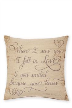 Buy Romance Script Tapestry Cushion from the Next UK online shop Cute Cushions, Large Cushions, Large Sofa, Scatter Cushions, Cushions On Sofa, Pillows, House Tweaking, Smile Because, New Living Room