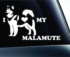 I Love My Alaskan Malamute Dog Symbol Decal Funny Car Truck Sticker Window (White) ExpressDecor http://www.amazon.com/dp/B00S1RX8DU/ref=cm_sw_r_pi_dp_KryTub0EBQ8ZJ