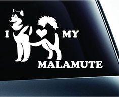 I Love My Alaskan Malamute Dog Symbol Decal Funny Car Truck Sticker Window (White) ExpressDecor http://www.amazon.com/dp/B00S1RX8DU/ref=cm_sw_r_pi_dp_KryTub0EBQ8ZJ