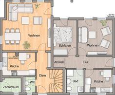 Wohnfl che Erdgeschoss mit Einliegerwohnung
