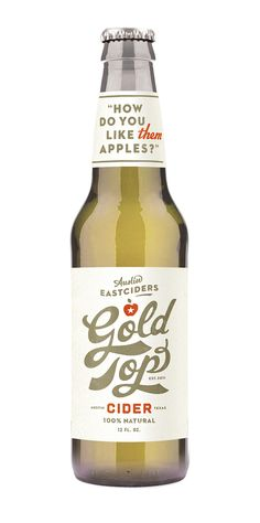 Gold Top Cider by Simon Walker - typography