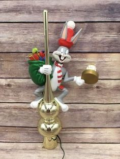 Bugs Bunny Looney Tunes Lighted Animated Tree Top Topper Mr Christmas 1995