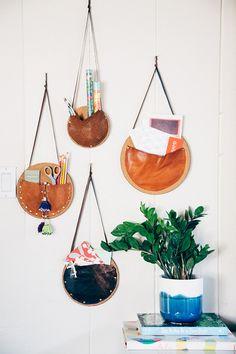 DIY Catch-all Wall Pockets