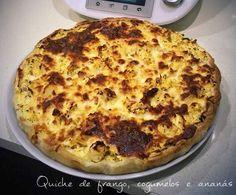 Receita Quiche de frango, cogumelos e ananás por ggi - Categoria da receita Pratos principais Carne