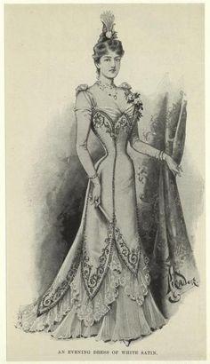 29-10-11 Evening dress, 1899, the Illustrated London News