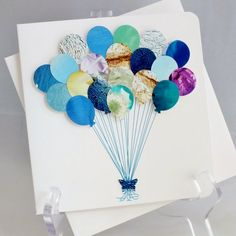Handmade 3D 'Balloons' Card Happy Birthday Card by CardsbyGaynor, £3.95