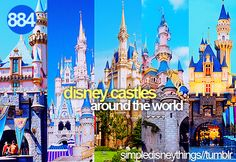 disney castles around the world