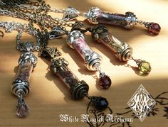 Custom Alchemy Pendant Charm Necklace Spell by WhiteMagickAlchemy