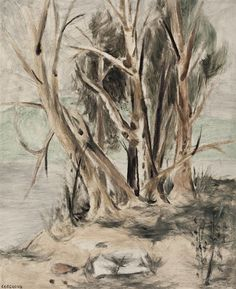 Stanley Cosgrove Trees Artwork by Stanley Cosgrove, Trees, Made of oil on board Enlarge Print Dimensions 24 x 20 in, 61 x 51 cm Medium oil on board Creation Date circa 1950 Tree Artwork, Dutch Artists, Museum, Trees, Painting, Oil, Collection, Board, Painting Art