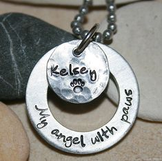 Dog memorial pendant  My angel with paws  by iiwiiemporium on Etsy, $18.00