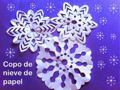 Cómo hacer copos de nieve de papel fácil - Manualidades