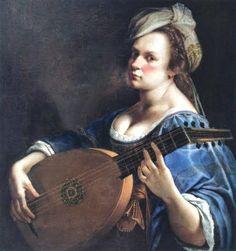 Artemisia Gentileschi (Italian, 1597- 1651) - Self portrait