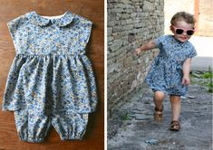 toddler tunic in liberty print by made by toya. use izzy top pattern & my bloomer pattern extended leg length Little Girl Dress Patterns, Tunic Dress Patterns, Simple Dress Pattern, Baby Girl Dress Patterns, Little Girl Dresses, Top Pattern, Skirt Patterns, Tunic Pattern, Coat Patterns