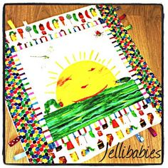 The very hungry caterpillar RARE  taggy blanket OR rug!