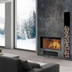 Great Images Contemporary Fireplace design Style Modern fireplace designs can cover a broader category compared with their contemporary counterparts. Fireplace Feature Wall, Linear Fireplace, Bedroom Fireplace, Home Fireplace, Living Room With Fireplace, Fireplace Ideas, Rock Fireplaces, Rustic Fireplaces, Contemporary Fireplace Designs