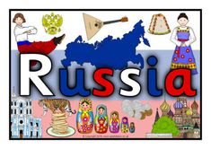 A classroom poster heading for your topic wall display about the country of Russia. Classroom Posters, A Classroom, Free Teaching Resources, Free Printables, Russia, Xmas, China, Display, Activities