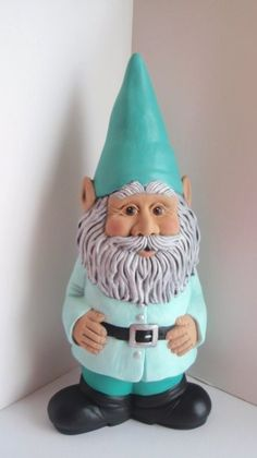 Funny Gnome with Rain Gauge Gnome Statues, Garden Statues, Gnome House, Gnome Door, Gnome Garden, Garden Crafts, Leprechaun, Little People, Mythical Creatures