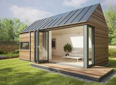 These popup modular pods can add a garden studio or offgrid escape just about anywhere is part of Mini garden Office - British company Pod Space's prefab pop up pods add sustainable garden offices and studio escapes just about anywhere Modern Tiny House, Tiny House Design, Modern Loft, Modern Cabins, Backyard Studio, Cozy Backyard, Backyard Office, Garden Office Uk, Backyard Retreat
