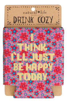 Natural Life 'Be Happy Today' Can Cooler